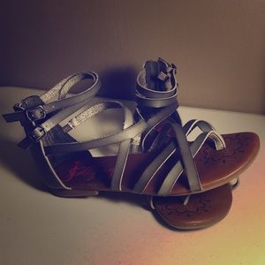 Silver Jellypop Sandals
